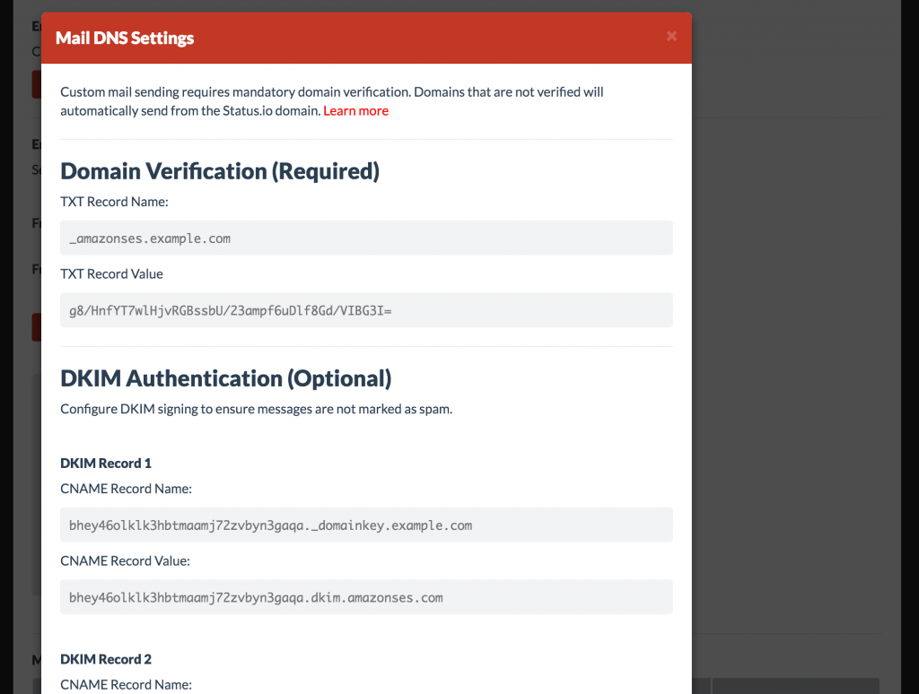 Custom Email Domain – Status.io Knowledge Base