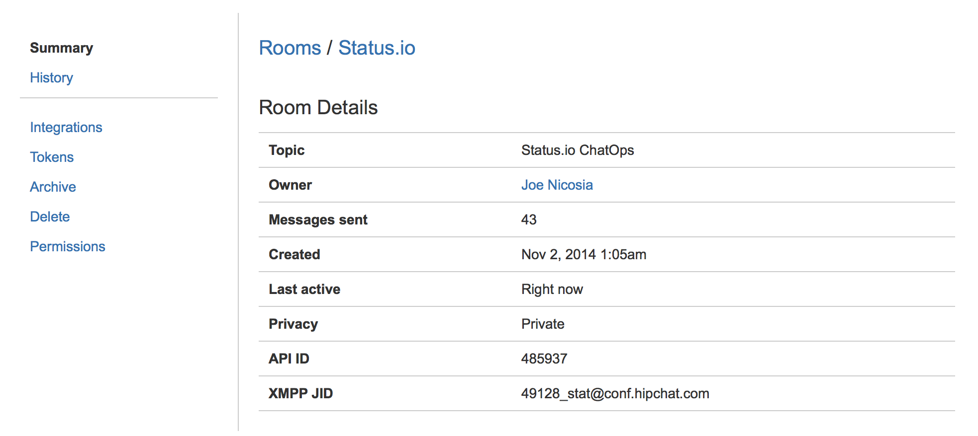 hipchat-room-summary
